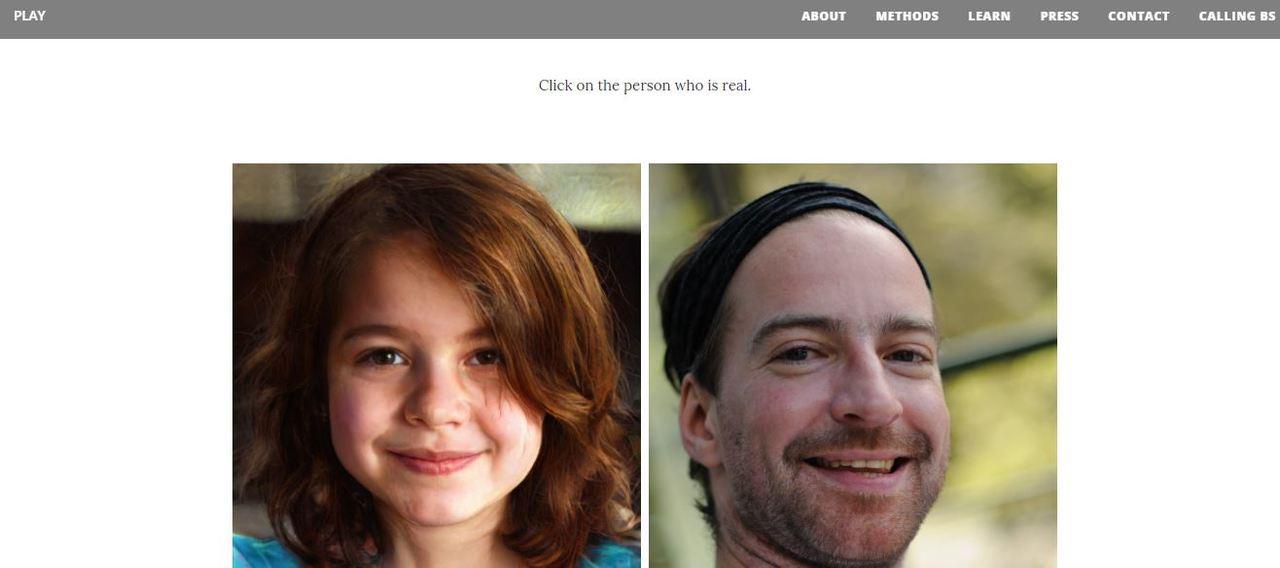 你猜得出來左右哪張圖片是真的嗎?圖擷自哪張是真臉(Which Face is R...