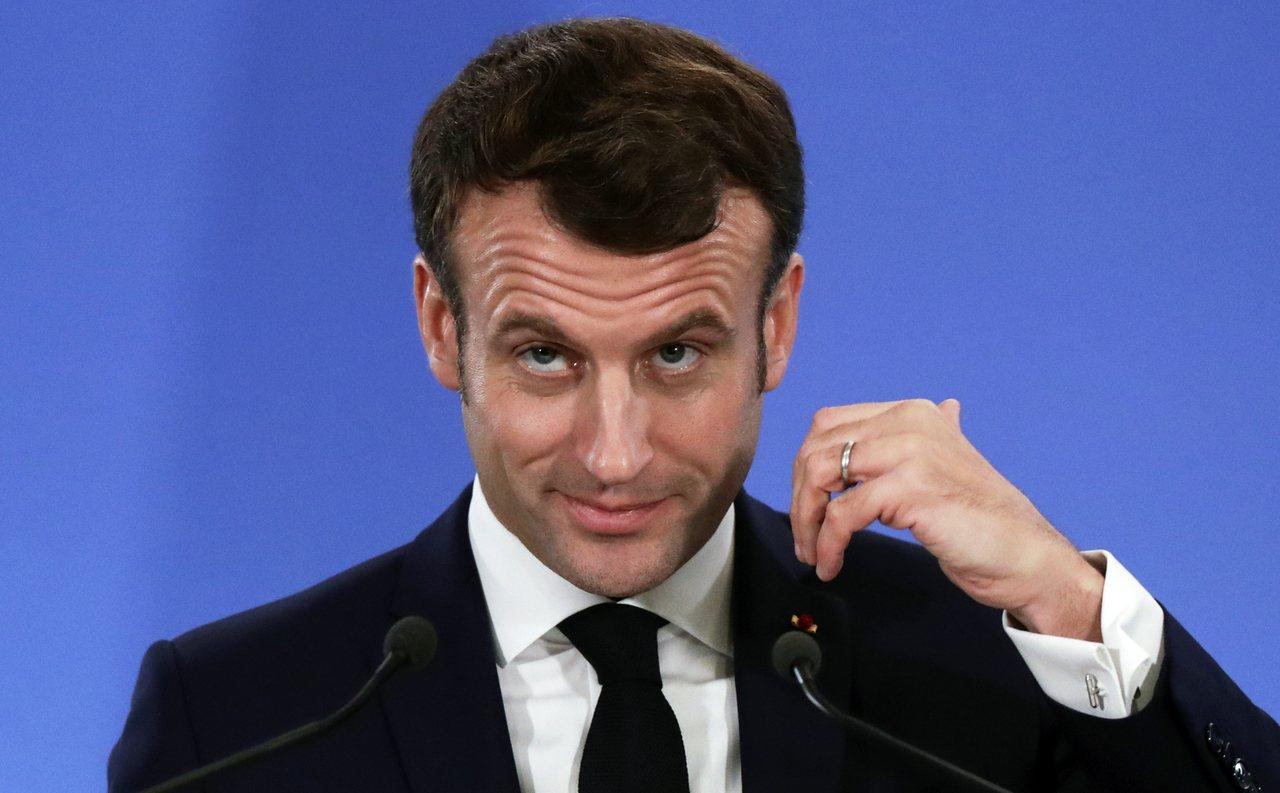 圖為法國總統馬克宏。 歐新社