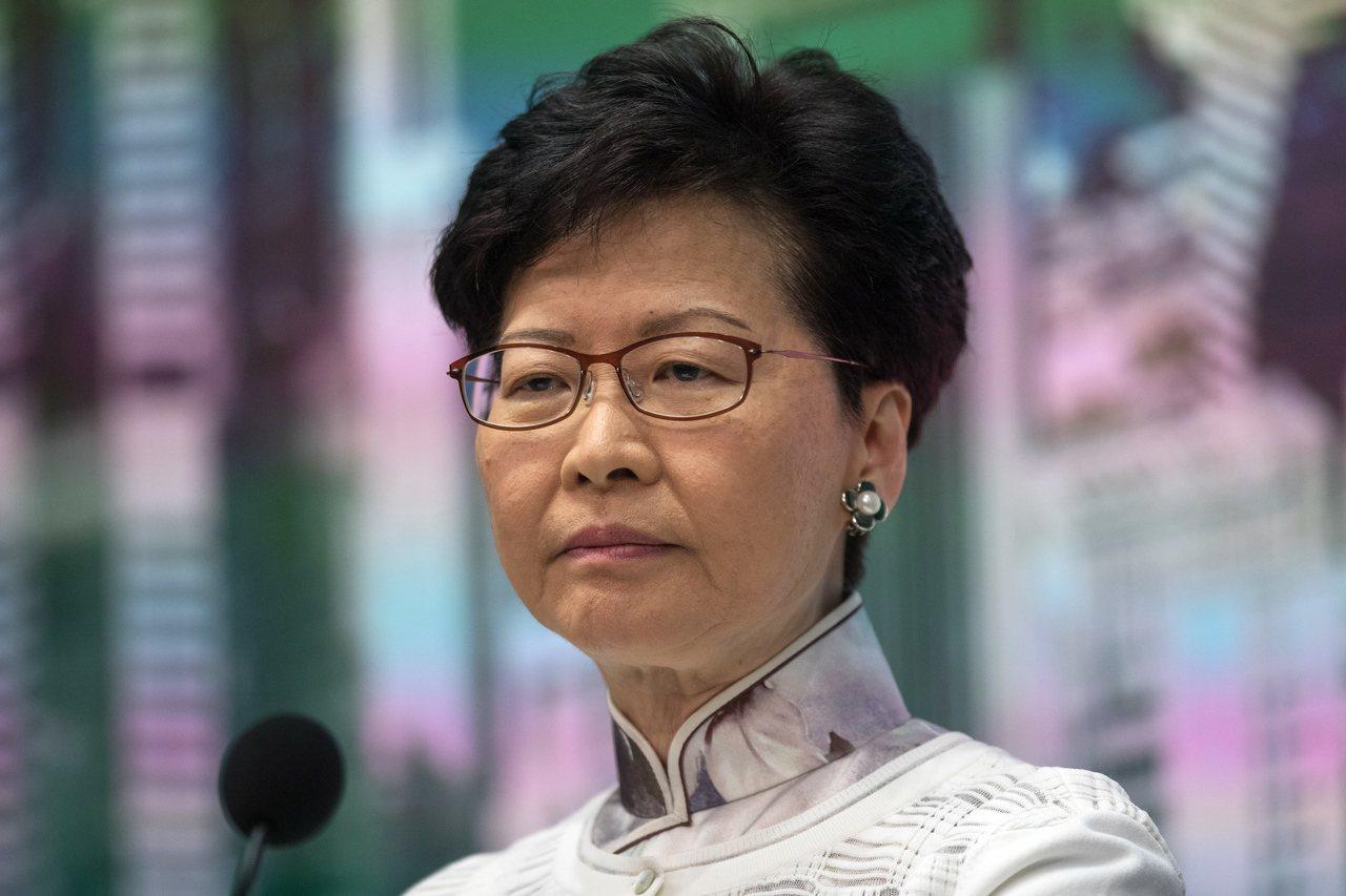 香港特首林鄭月娥昨天前往北京述職。 (歐新社)