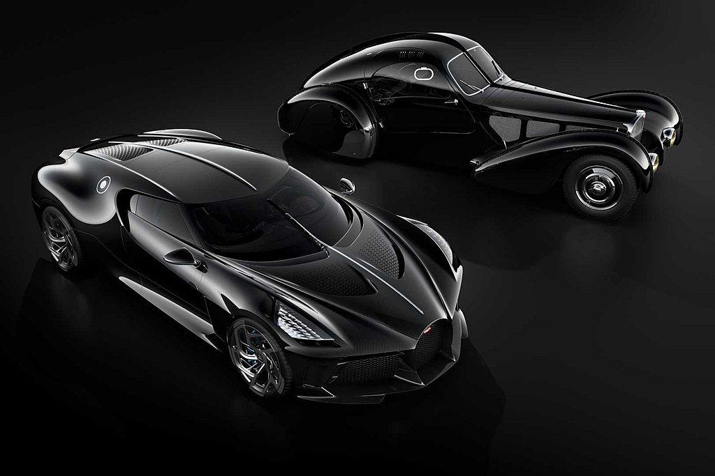今年3月Bugatti推出全球唯一La Voiture Noire超跑,以此向3...