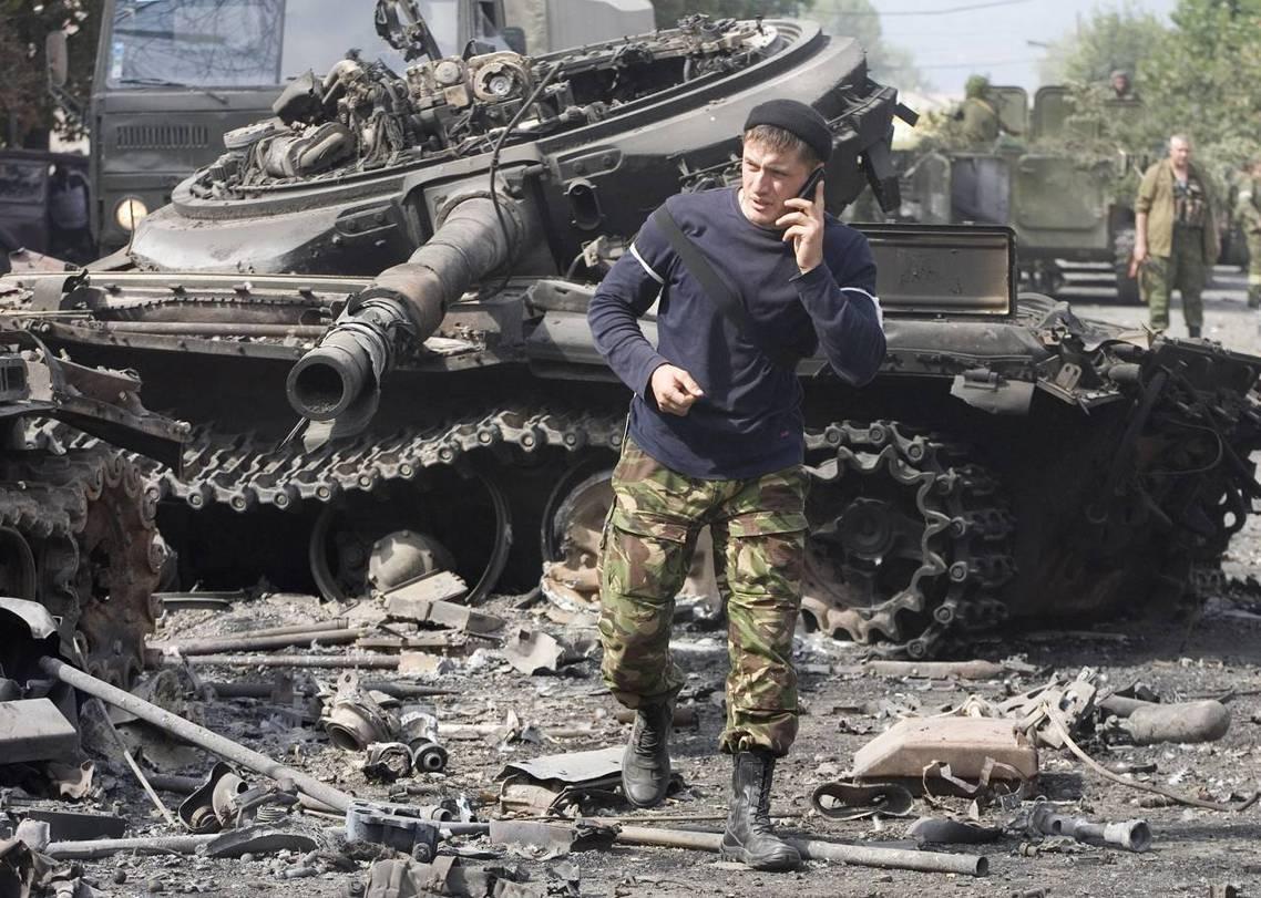 喬治亞部隊於2008年8月的「俄羅斯-喬治亞戰爭」中遭俄軍擊潰。 圖/美聯社