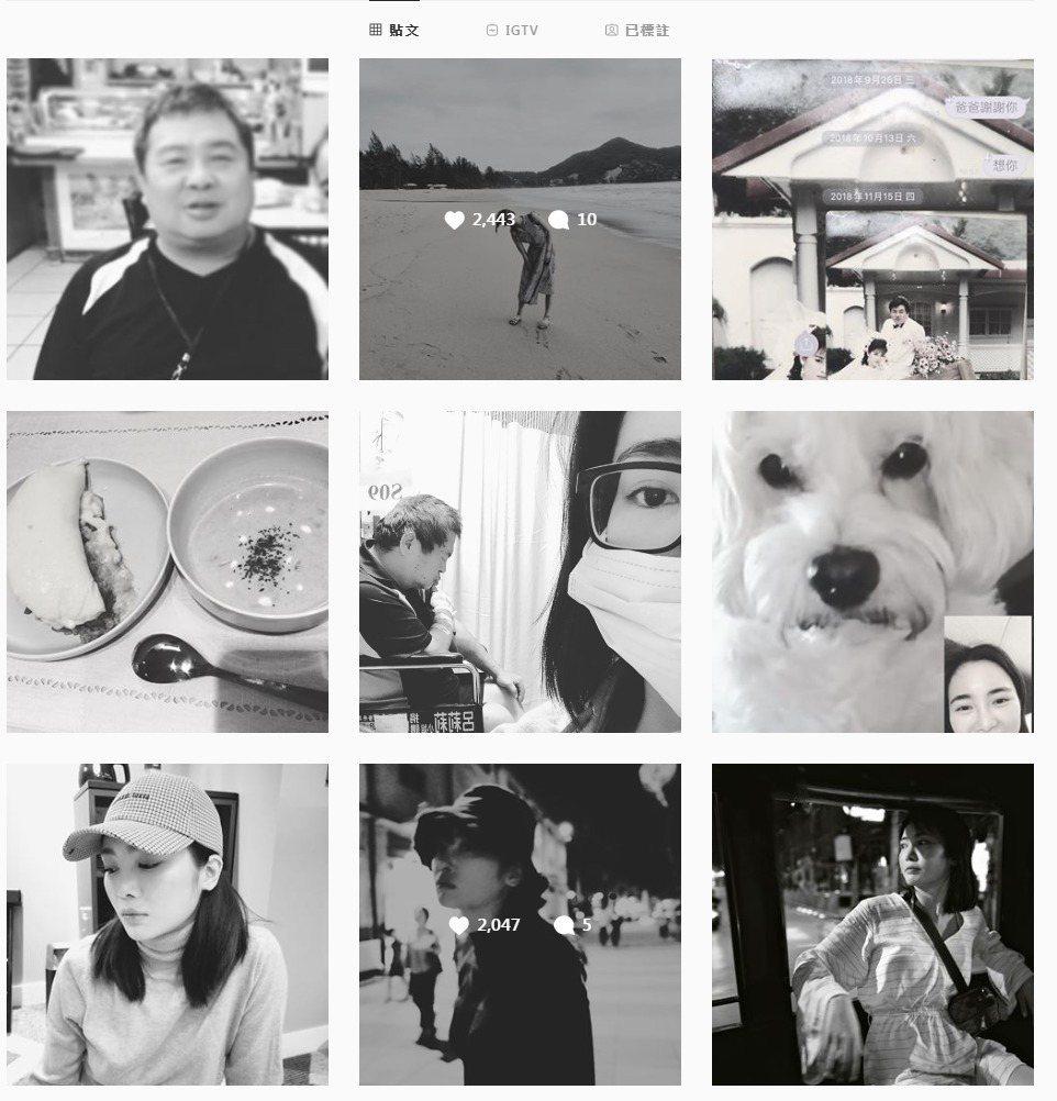舒子晨連發9張黑白照。圖/擷自IG