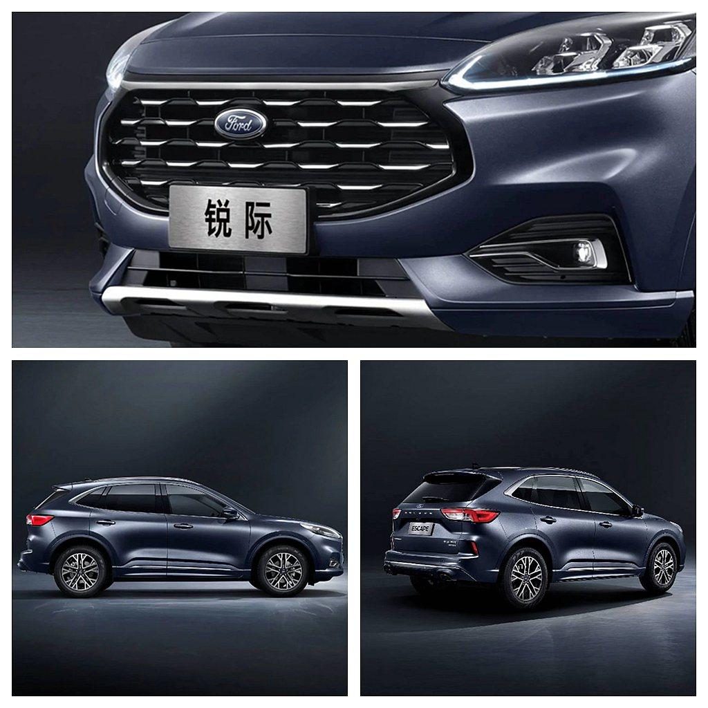 中國版新Ford Escape車頭導入星穹概念格柵,車側動感的腰線營造跑車風範,...