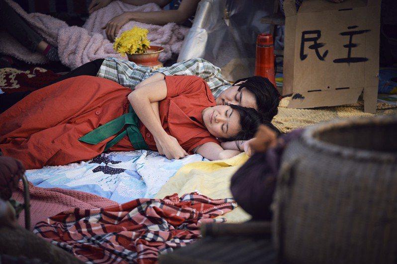 在《Chimerica》和哈利波特中飾演張秋的女星梁佩詩(Katie Leung)演出對手戲。(圖/于懷傑 提供)