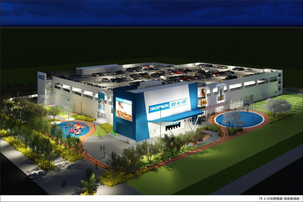 一功營造攜手法商迪卡儂斥資4億元,帶動亞灣商機。  圖/一功提供
