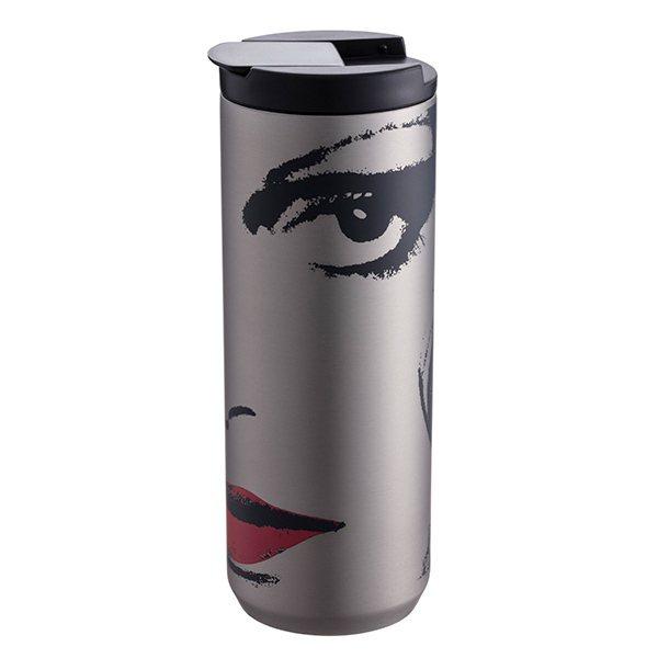 「DVF不鏽鋼杯」特殊前衛設計,深受女性粉絲喜愛,售價900元/個。圖/星巴克提...