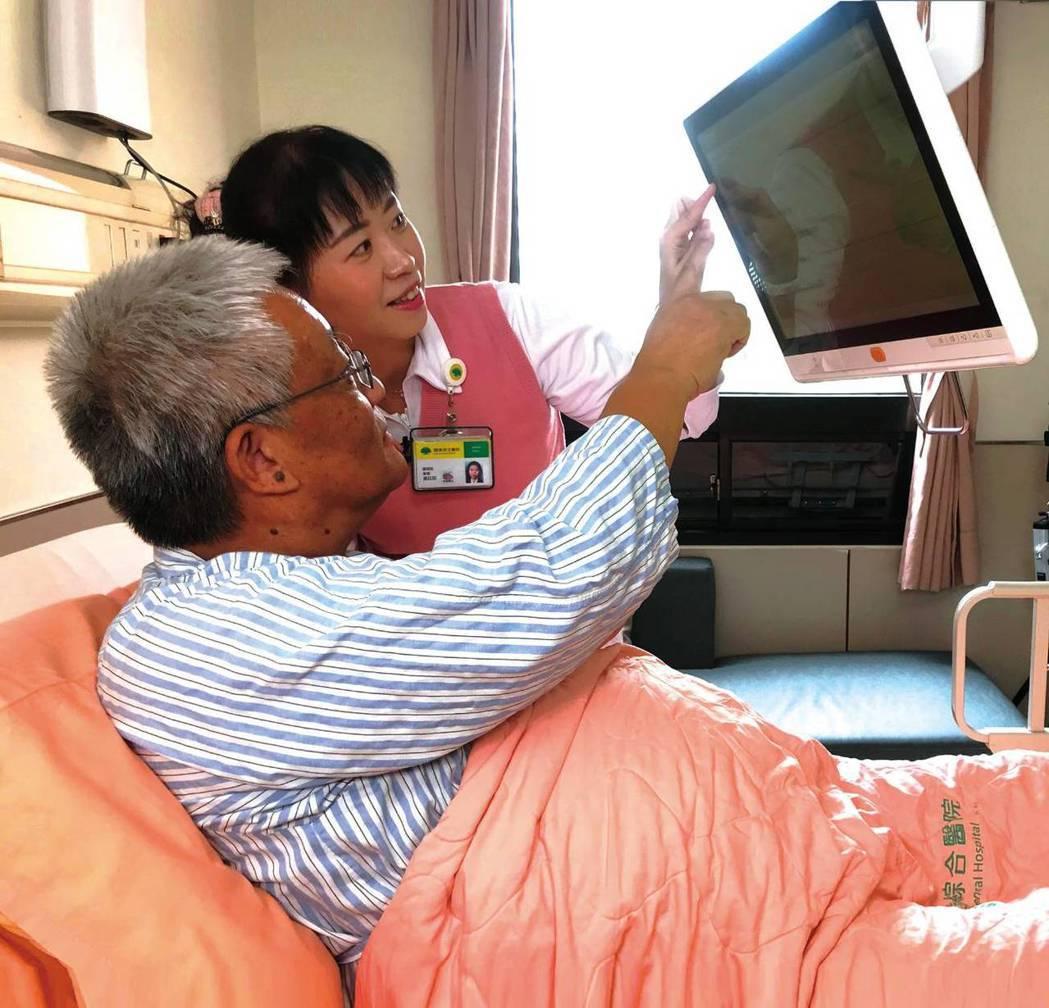 個人化組合式互動護理指導,依護理師推播及病人點選的護理指導主動搜尋相關主題資訊推...