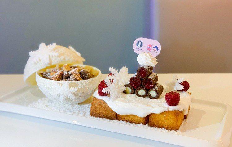 耶誕限定款「雪球巧酥蜜糖吐司」售價380元/組。記者徐力剛/攝影