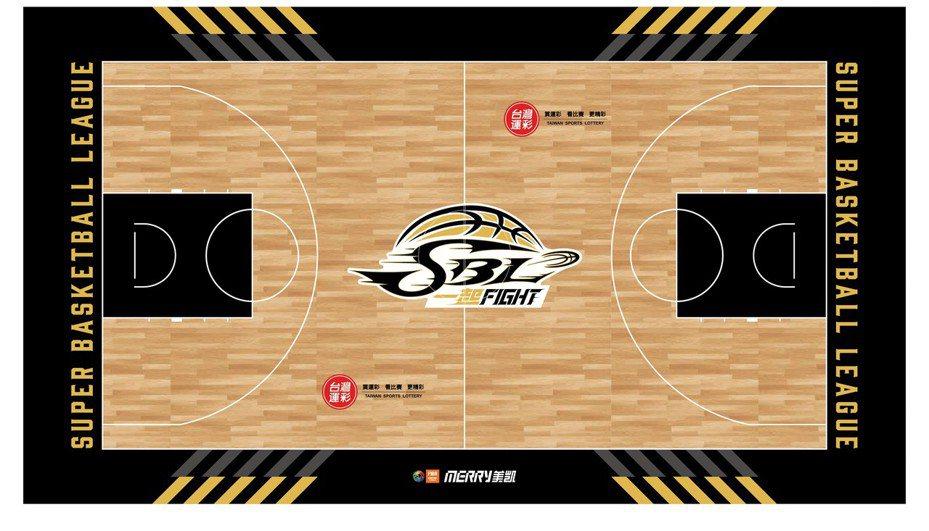 第17季SBL斥資700萬引進FIBA認證木質地板。圖/中華籃球協會提供