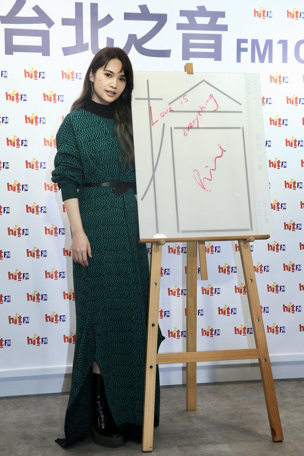楊丞琳今天擔任HITO大台柱,喊MV延期上架很水逆。記者陳正興/攝影