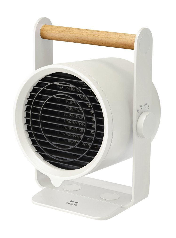 BRUNO天然木手持PTC陶瓷電暖器,建議售價2,280元。圖/BRUNO提供