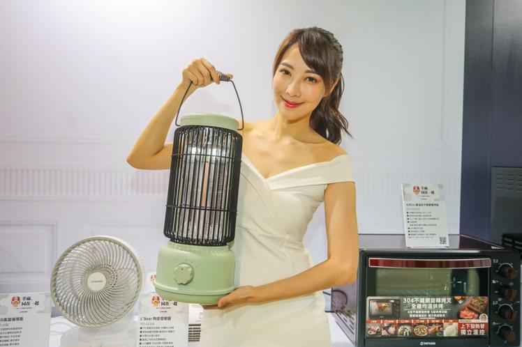 大同碳素型電暖器TAH-C600A,復古造型吸睛。圖/大同提供