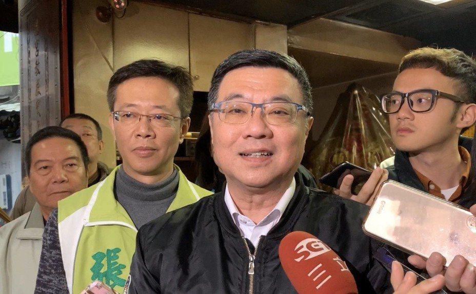 民進黨主席卓榮泰今天下午到板橋輔選立委參選人張宏陸。記者張曼蘋/攝影
