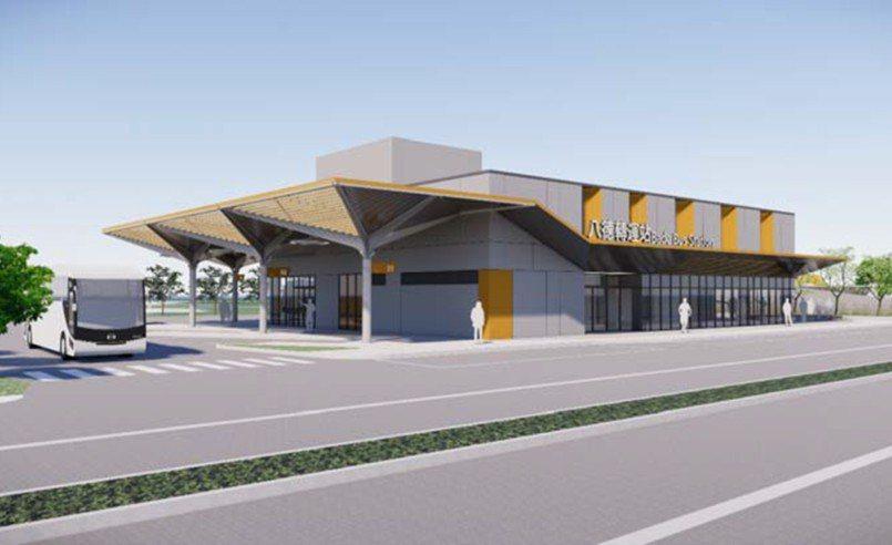 桃園市政府將興建八德轉運站,1樓為候車大廳與大客車停靠月台,2樓為機車停車場,最...