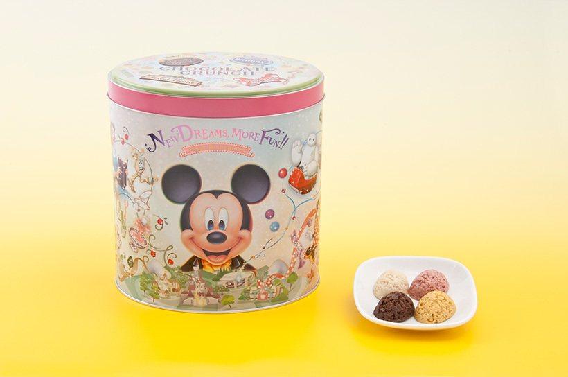 全新造型的巧克力脆餅桶,2,600日元。圖/擷取自東京迪士尼度假區官網