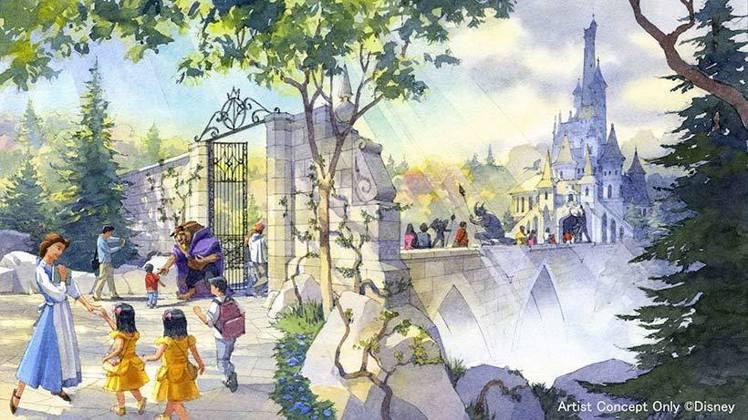 東京迪士尼樂園的美女與野獸園區,預計將於2020年4月15日登場。圖/擷取自東京...