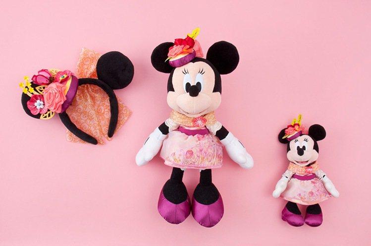 米妮的風格工作室將推出8款頭帶、徽章等商品。圖/擷取自東京迪士尼度假區官網
