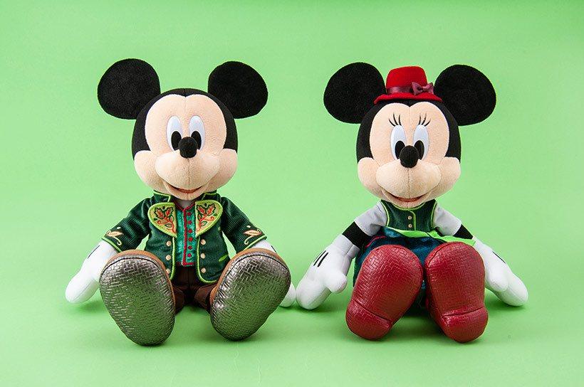 森林劇場造型的米奇、米妮絨毛娃娃,單隻5,100日元。圖/擷取自東京迪士尼度假區...