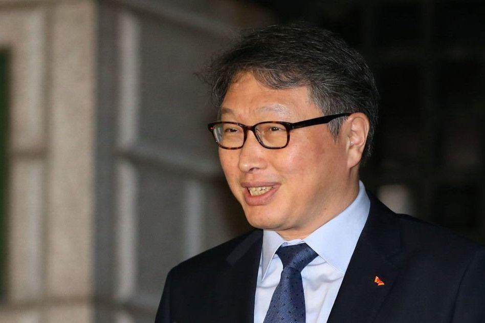 南韓SK集團會長崔泰源。 美聯社