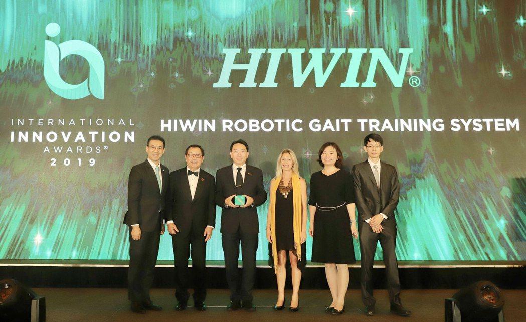 上銀研發的「HIWIN下肢肌力訓練機」,榮獲亞洲企業商會頒發產品類「2019國際...