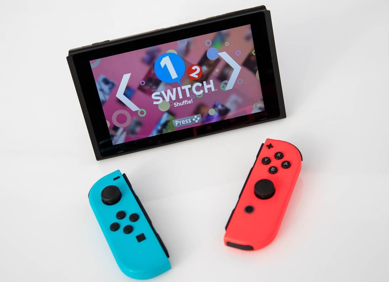 任天堂家用遊戲機Switch。(法新社)