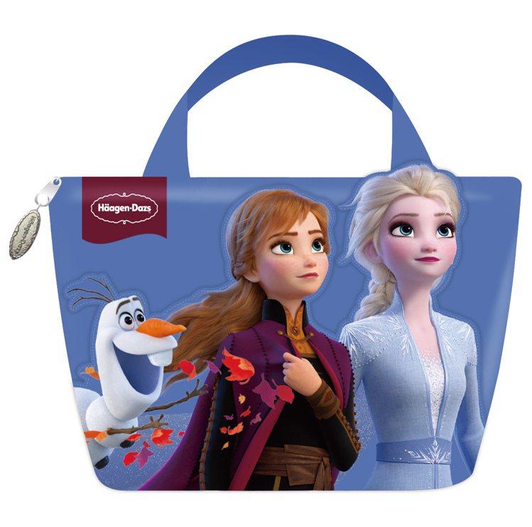 敦南門市獨賣「冰雪奇緣保冷袋組」售價699元。圖/哈根達斯提供