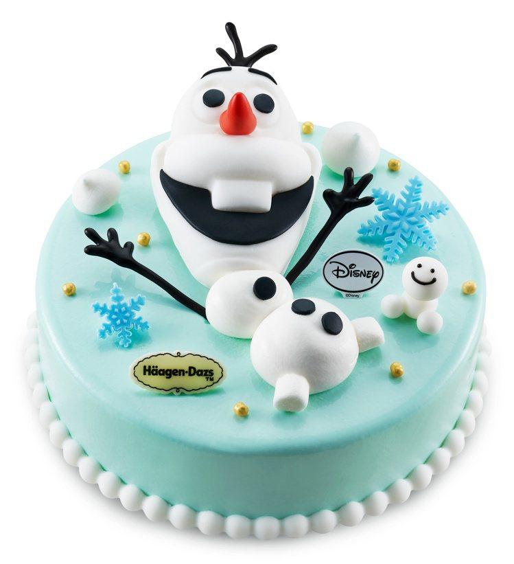「雪寶冰紛蛋糕」售價2,180元(7吋)。圖/哈根達斯提供