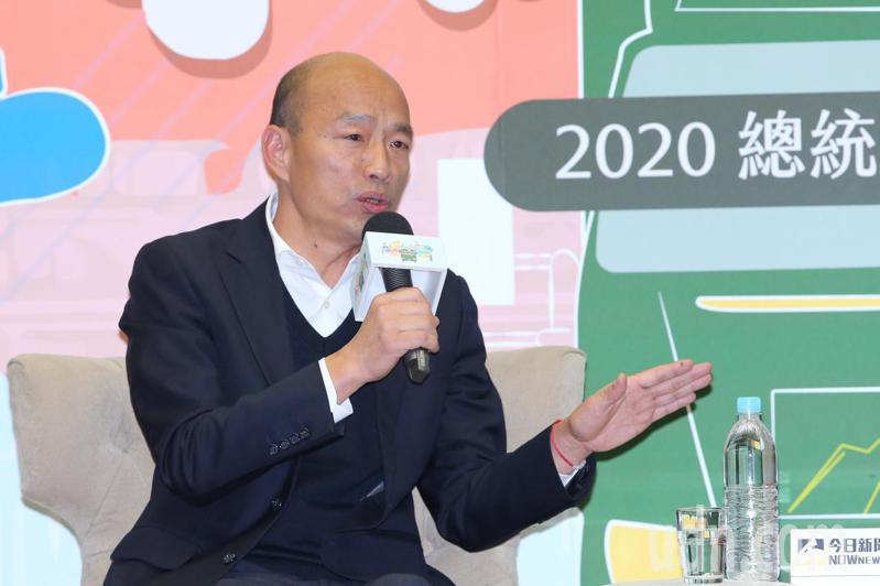 國民黨總統候選人韓國瑜。記者許正宏/攝影