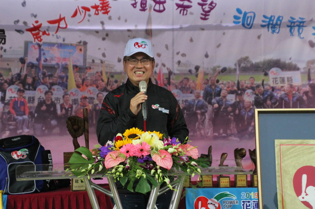 台灣彩券總經理蔡國基開幕致詞。記者葉姵妤/攝影
