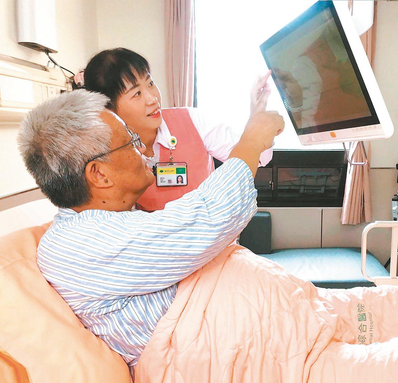 國泰醫院的個人化組合式互動護理指導,依護理師推播及病人點選,主動搜尋推薦相關主題...
