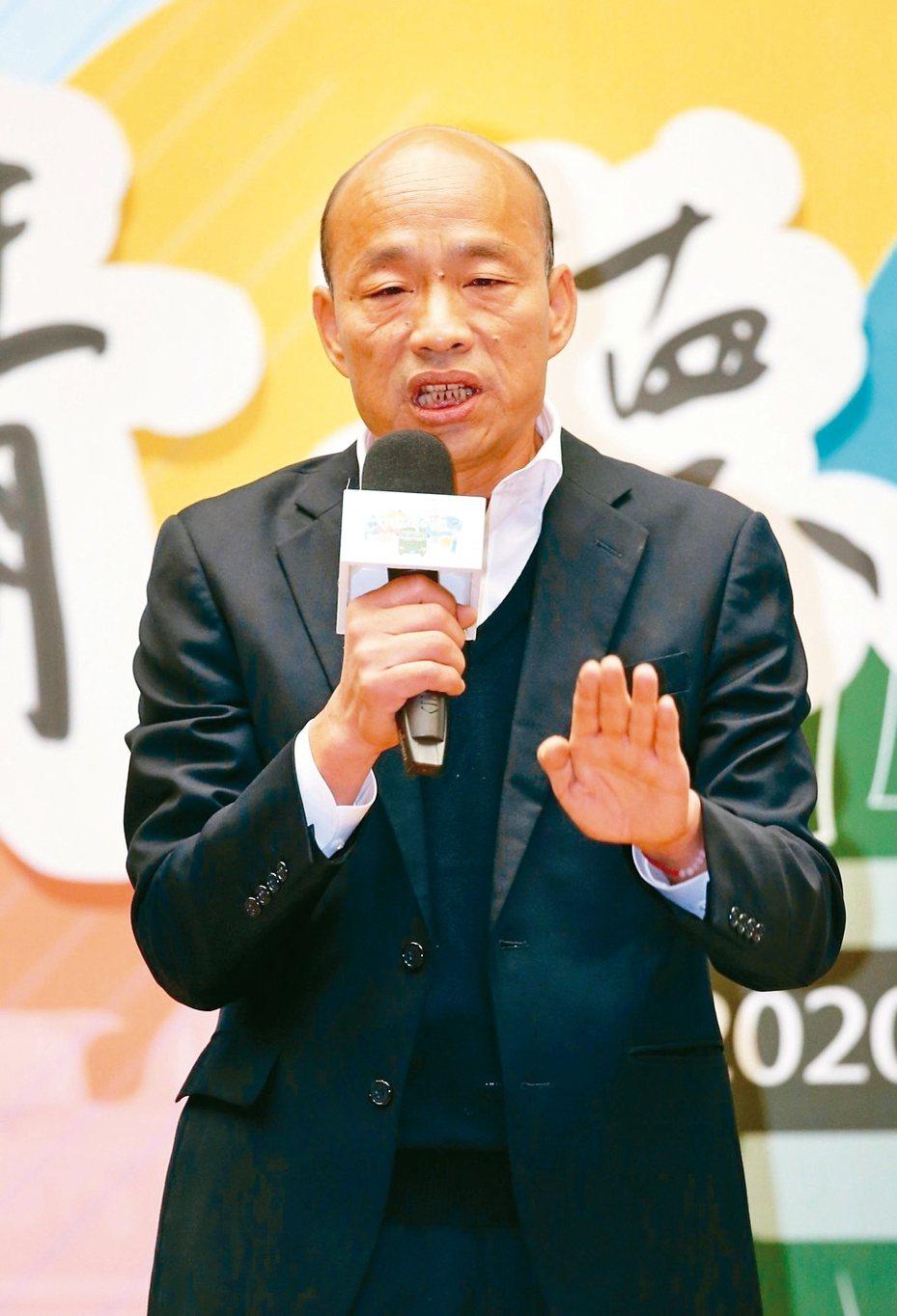 國民黨總統候選人韓國瑜昨出席總統大選青年論壇。 記者許正宏/攝影