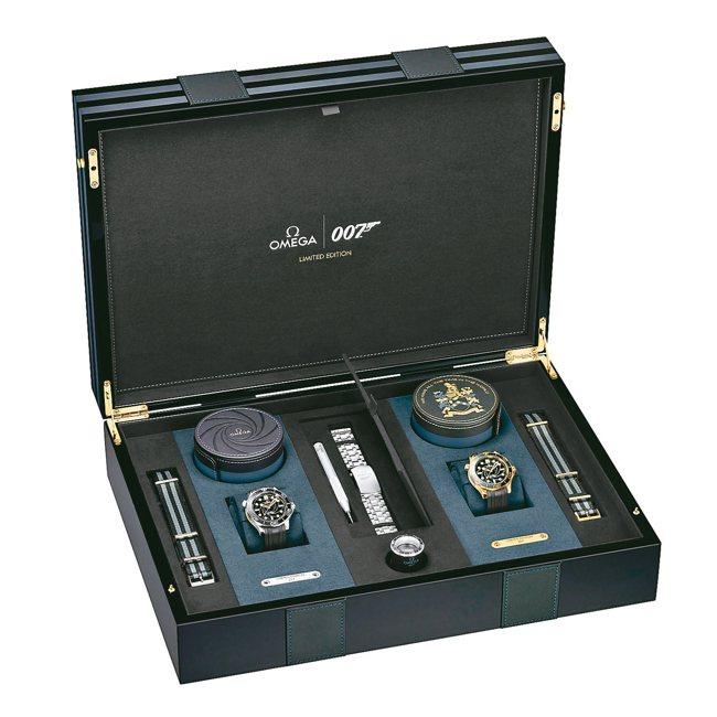 歐米茄「詹姆士龐德」限量腕表組,約137萬7,900元。 圖/各業者提供