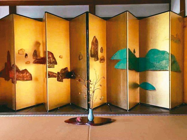 「永結無情遊」畫展在京都東福寺的一華院舉行。 圖/c@ns project