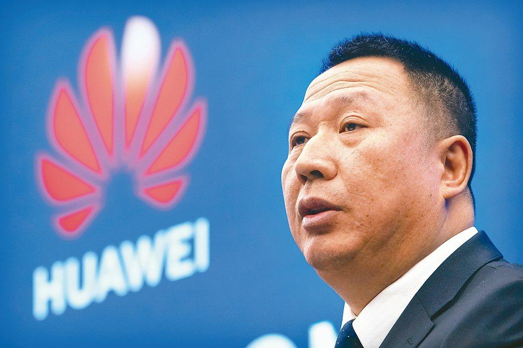 華為首席法務官宋柳平在深圳舉行記者會控告美國政府。 美聯社