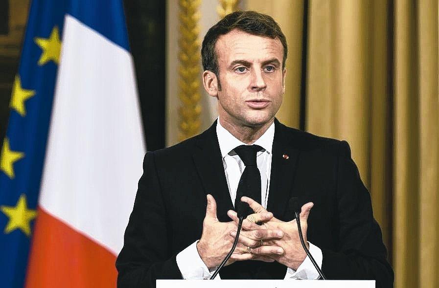 法國總統馬克宏 (歐新社)