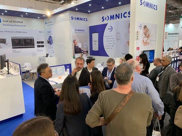 萊鎂醫在德國杜塞道夫參與醫療器材展(Medica),吸引許多國際買家、睡眠醫療專...