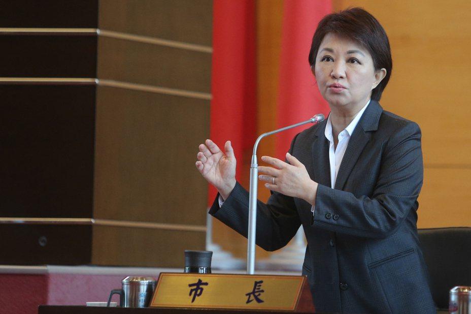 台中市長盧秀燕表示,北區肉品市場一定會遷建。 聯合報記者黃仲裕/攝影