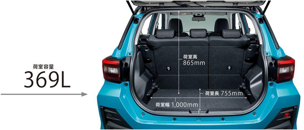 Toyota Raize後座表現出色外,行李廂空間更具備了369公升的收納容量。...