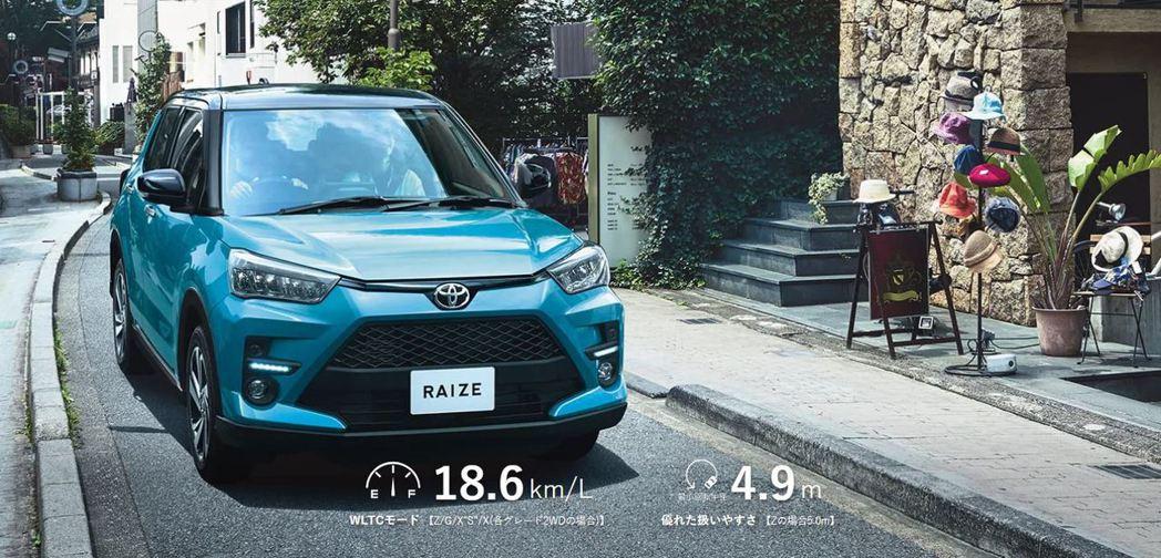 Toyota Raize重量不到一公噸,車長不超過四米,緊湊的車格卻擁有寬裕的乘...