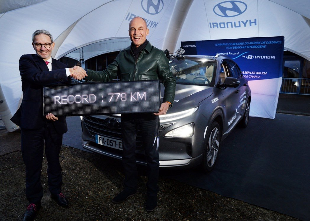 Hyundai Nexo曾在2019年創下了單趟行駛距離達到778公里的世界新紀...