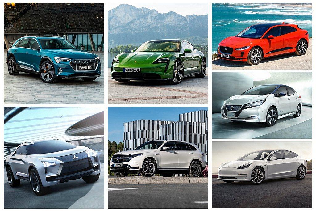 2020台北車展將有多款電動車首度亮相。 圖/各車廠提供