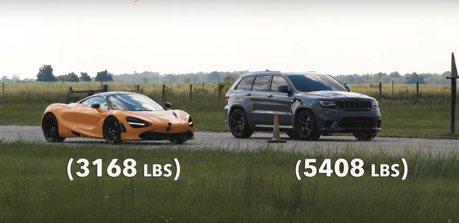 影/1,200匹馬力Jeep單挑McLaren 720S超跑! 這馬力夠用嗎?