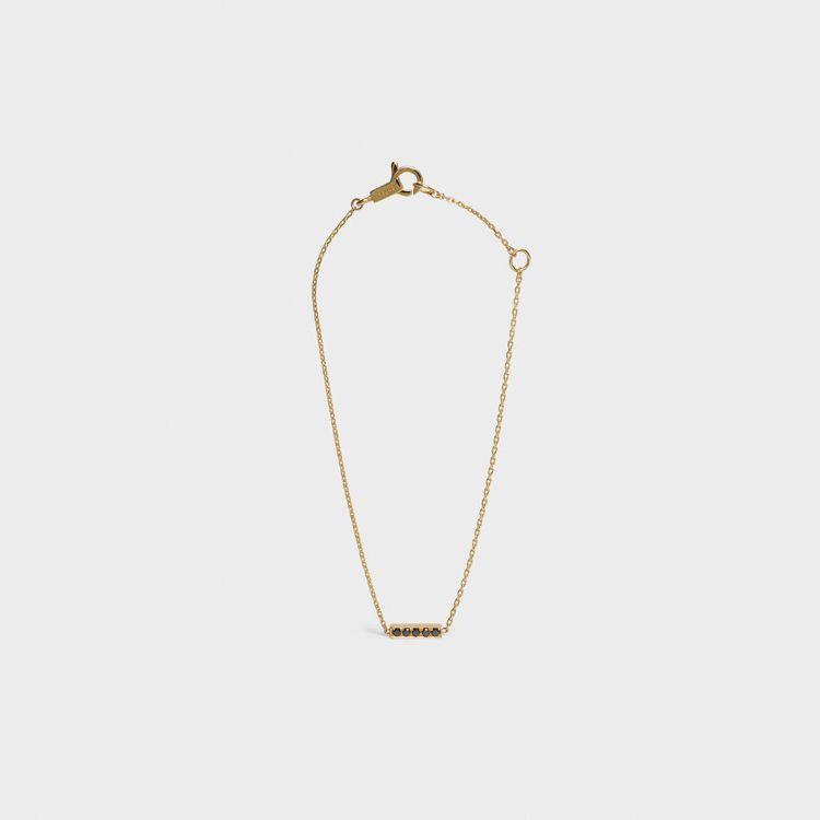 CELINE Sentimental Line黃金及黑鑽手鍊,售價26,500元...