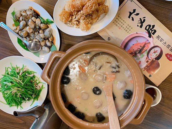 板橋知名美食六必居砂鍋粥。(圖/趣淘漫旅提供)