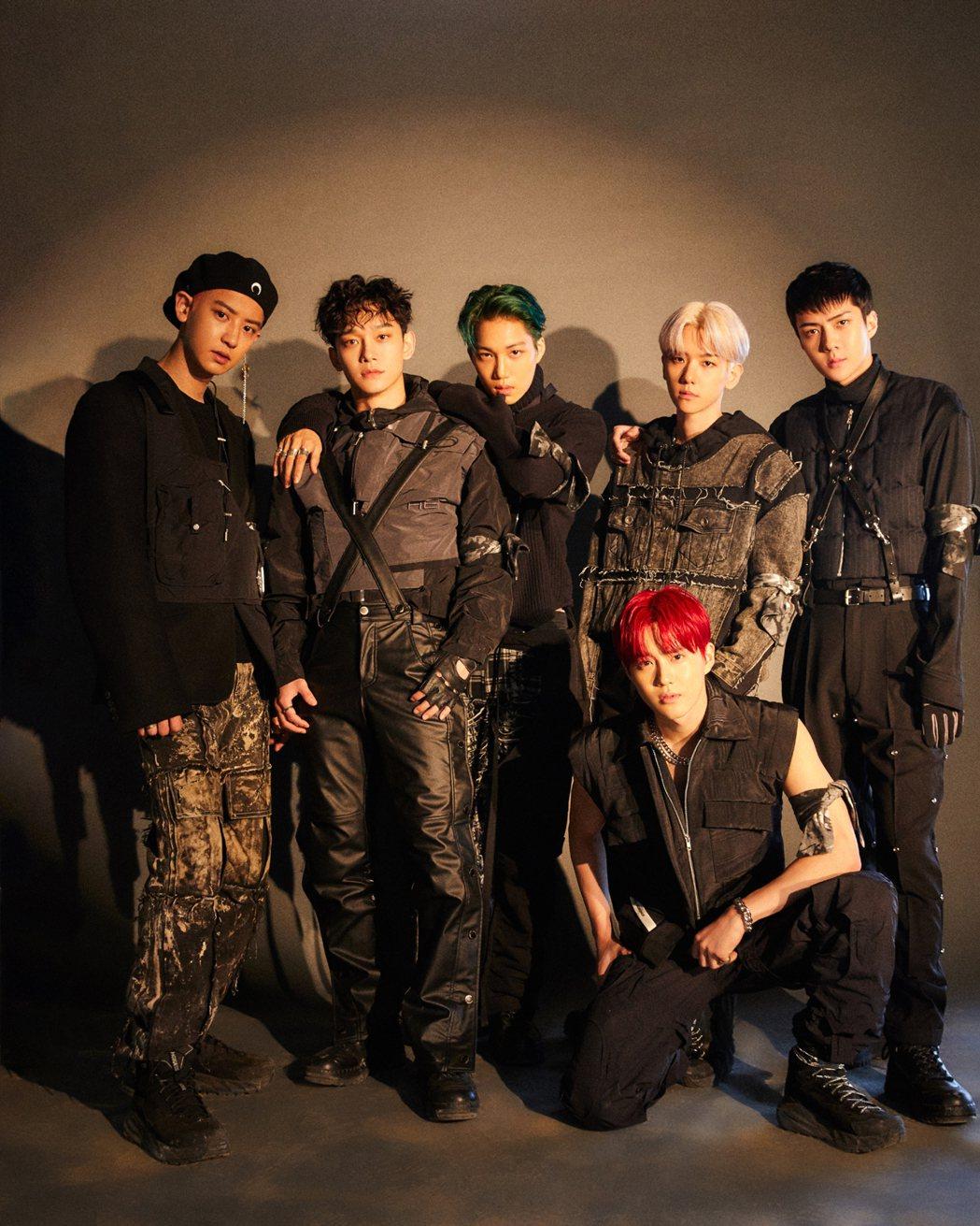 EXO最新專輯又橫掃各大排行榜。圖/愛貝克思提供