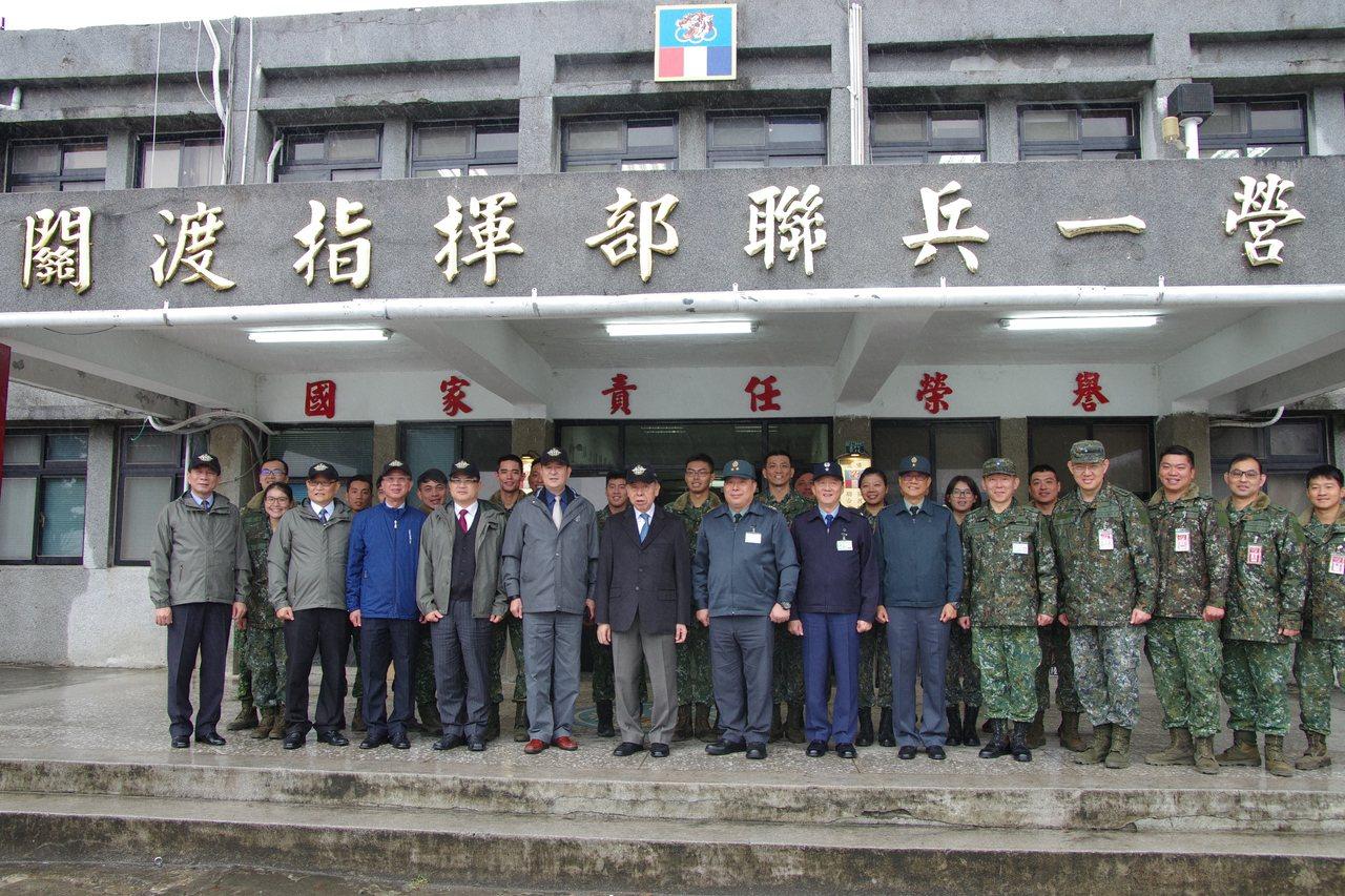 敬軍團慰勉關指部河防營,該營日前剛改編為陸軍最新的聯合兵種營。記者程嘉文/攝影