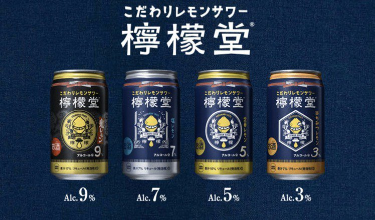 日本可口可樂推出4款「檸檬堂」商品,帶來全新味覺享受。圖/取自檸檬堂官網