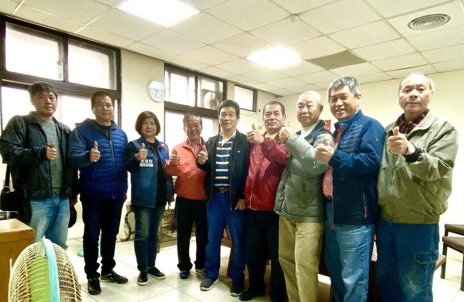 國民黨立委參選人宋瑋莉今天到基隆區漁會拜訪。圖/宋瑋莉競選總部提供