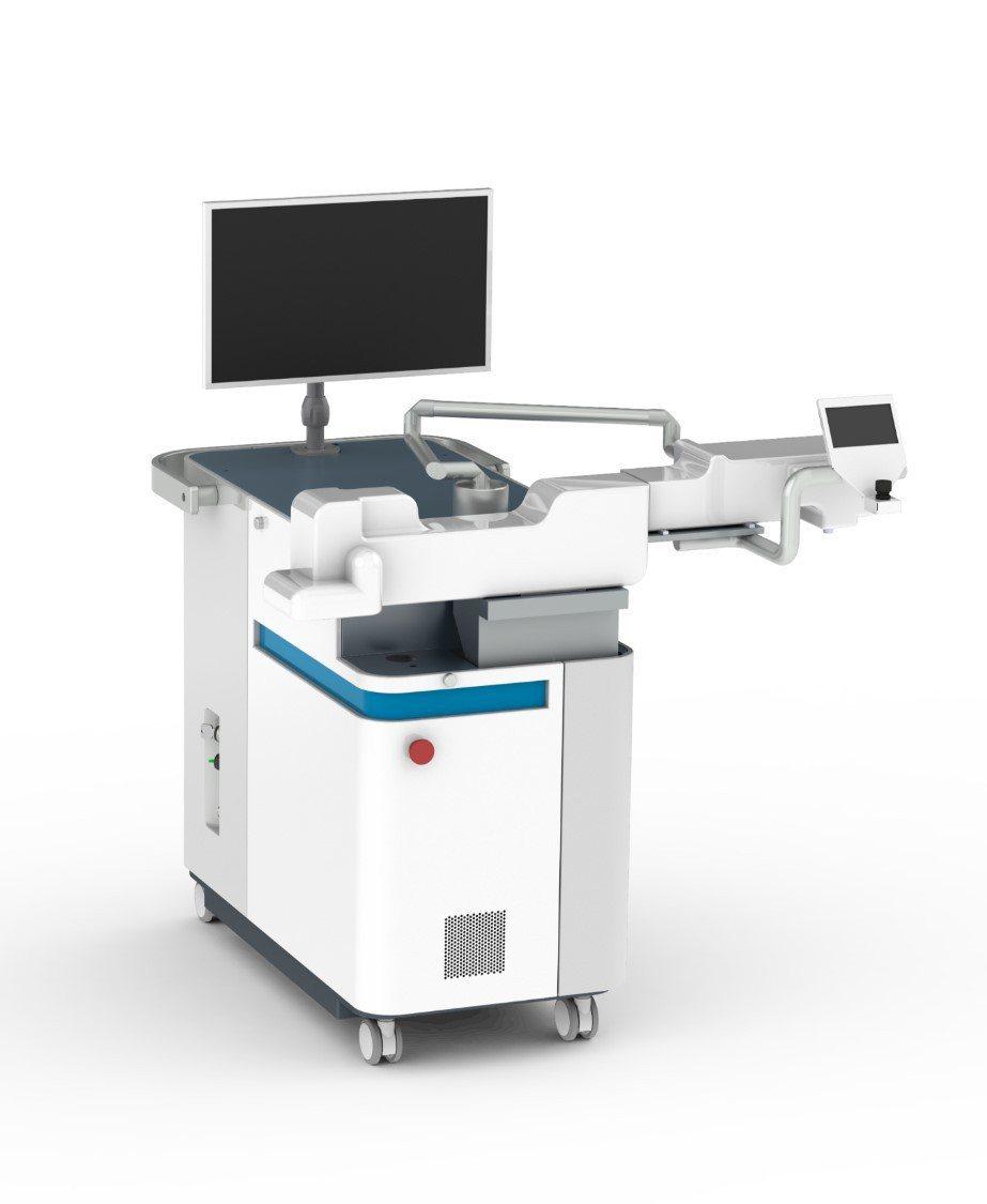 艾克夏研發的眼科「飛秒雷射手術儀」。圖/廠商提供