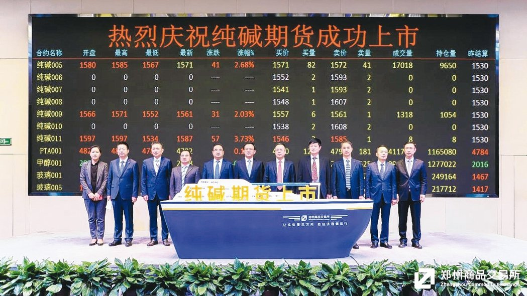 全球首個純鹼期貨6日在鄭州商品交易所上市買賣,中國大陸已成為世界上最大的純鹼生產...